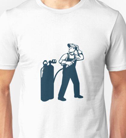 Welder Standing Visor Up Retro Unisex T-Shirt