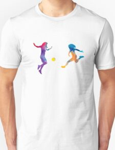 Women soccer players 01 in watercolor Unisex T-Shirt