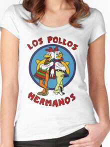 LOS POLLOS BREAKING BAD Women's Fitted Scoop T-Shirt
