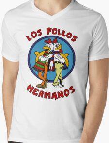 LOS POLLOS BREAKING BAD Mens V-Neck T-Shirt