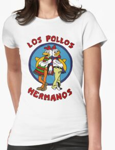 LOS POLLOS BREAKING BAD Womens Fitted T-Shirt