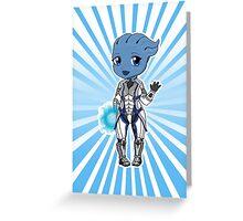 Liara T'Soni Chibi Greeting Card
