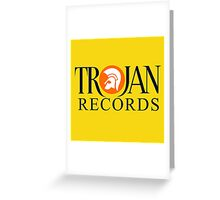 TROJAN RECORDS : DARK BLUE Greeting Card