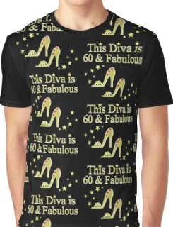 GLITTERY GOLD 60 AND FABULOUS Graphic T-Shirt