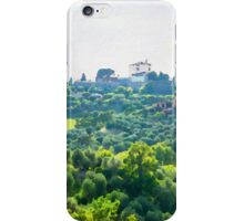 Tuscany idyllic landscape - watercolor painting iPhone Case/Skin