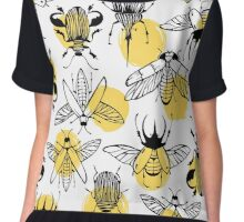 Exotic beetles. Chiffon Top