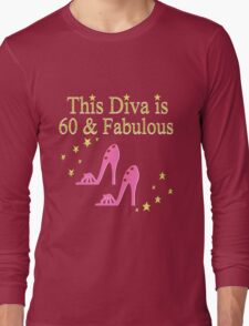 PINK SPARKLING 60 AND FABULOUS Long Sleeve T-Shirt
