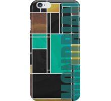 Mondrian Teal Brown Black  iPhone Case/Skin