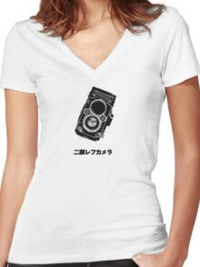 Japan Rollei Women's Fitted V-Neck T-Shirt