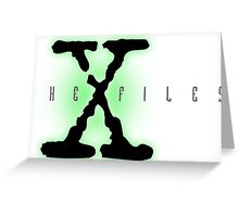 The X files Greeting Card