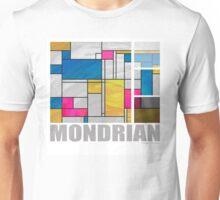 Mondrian Yellow Pink Blue  Unisex T-Shirt
