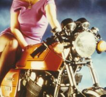 Girl On A Motorcycle Sticker