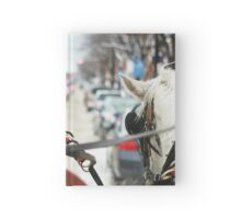 Whyte Avenue Sleigh Ride - Edmonton, Alberta, Canada Hardcover Journal
