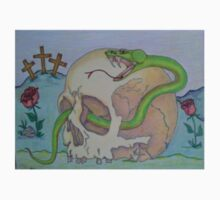 Skull with Green Viper One Piece - Long Sleeve