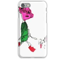 Child and tech pet dog iPhone Case/Skin