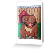 Happy Pit Bull Greeting Card