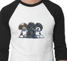 Three Water Dogs Men's Baseball ¾ T-Shirt
