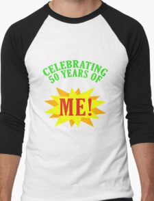 Celebrating 50th Birthday Men's Baseball ¾ T-Shirt