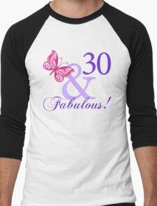 Fabulous 30th Birthday Men's Baseball ¾ T-Shirt