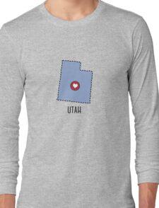 Utah State Heart Long Sleeve T-Shirt