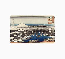 Nihonbashi Clearing After Snow - Hiroshige Ando - c1840 - woodcut Unisex T-Shirt