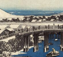 Nihonbashi Clearing After Snow - Hiroshige Ando - c1840 - woodcut Sticker