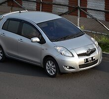 silver colored toyota yaris by bayu harsa