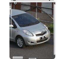 silver colored toyota yaris iPad Case/Skin