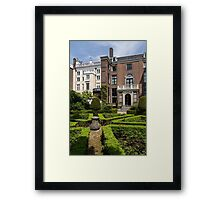 Formal Garden - Sculpted Boxwood Hedges and Period Facades Framed Print
