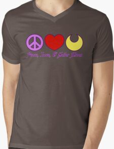 Peace, Love, and Sailor Moon Mens V-Neck T-Shirt
