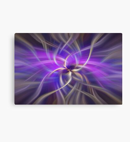 Purple Gold Colored Abstract. Concept Spirituality Canvas Print