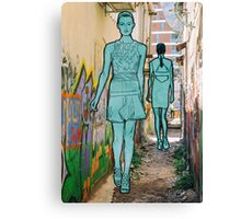 A model in the city Canvas Print