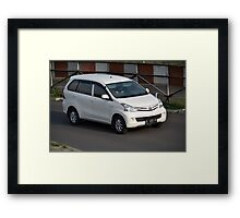 white colored toyota avanza Framed Print
