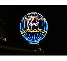 Balloon Sign - Paris, Las Vegas ^ Photographic Print