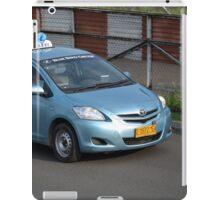 blue bird taxi iPad Case/Skin