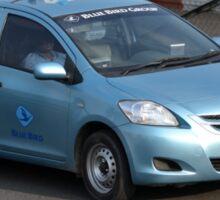 blue bird taxi Sticker