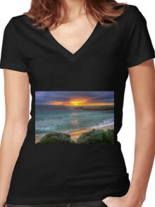 Sunrise at Boat Harbour Women's Fitted V-Neck T-Shirt