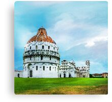 Watercolor painting of Pisa, Italy Canvas Print