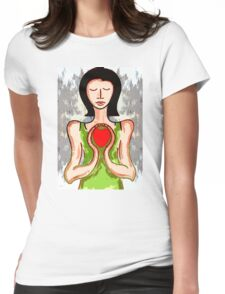 PRECIOUS HEART Womens Fitted T-Shirt