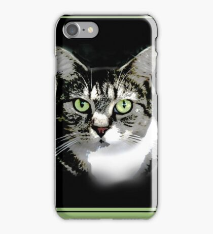 the cat's on the bed again iPhone Case/Skin