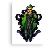 Tentacle Bat Queen Canvas Print