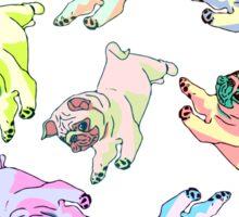 spiral pugs Sticker