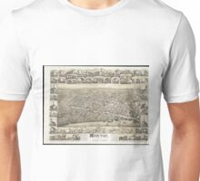 Vintage Pictorial Map of Moncton NB (1888) Unisex T-Shirt