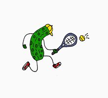 Funky Cool Pickle Playing Tennis Unisex T-Shirt