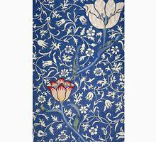 Blue and White Winding Flower Design Unisex T-Shirt