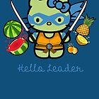 Hello Ninja Turtle Leader by scribbleworx
