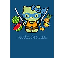 Hello Ninja Turtle Leader Photographic Print