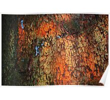 """Painted By Palette Knife""  bark abstract Poster"