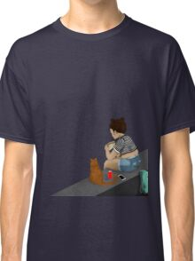 The Girl and the Cat Classic T-Shirt