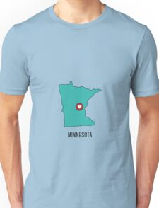 Minnesota State Heart Unisex T-Shirt